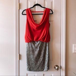 Sequin Open Back Dress